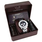 Centorum Unique Falcon Mens Real Diamond Watch 0.55ct White MOP Chronograph 4