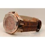 Aqua Master Royal Oak Mens Diamond Watch 1.50ctw W325K 2