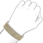 7 Row White Yellow Natural 1.5 Ctw Diamond Brace-4