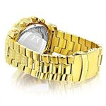 Oversized Iced Out Mens Diamond Watch Yellow Gol-2
