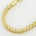 Mens 10K Yellow Gold Franco Bracelet AGMBRP42 8.-2