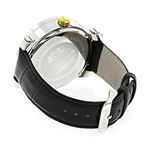 New White And Yellow Gold Luxurman Mens Diamond Watch 0.18ct Black Leather Band 2