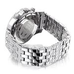 Real Mens Genuine Diamond Band Raptor Watch by LUXURMAN 1 Carat Mother of Pearl 2