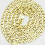 """14K Yellow gold cuban link chain 24"""" Long 4MM Wide MLC6 2"""