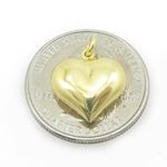 Ladies .925 Italian Sterling Silver yellow heart pendant Length - 18mm Width - 14.5mm 4