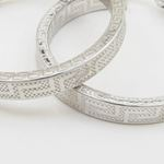 Round greek key hoop earring SB90 28mm tall and 28mm wide 2