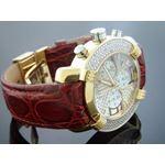 45Mm Round 20 Diamonds Yellow Gold Case Watch-2