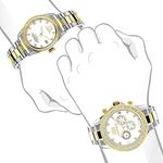 Matching Watches For Couples Two-Tone Yellow Gol-4