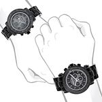 Large Matching His And Hers Watches: Black Diamo-4