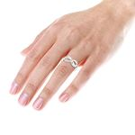 Luxurman Love Quotes: Sterling Silver Infinity Diamond Ring For Women (size 10) 4