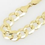Mens 10k Yellow Gold figaro cuban mariner link bracelet AGMBRP24 9 inches long and 10mm wide 2