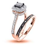 10K White Black 1.2 Ctw Diamonds Unique Bridal E-2