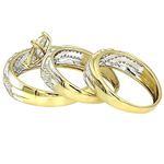 10K Gold Round Diamond Engagement Ring Wedding B-2