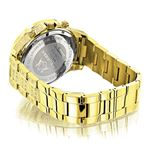 LUXURMAN ICED OUT MENS DIAMOND WATCH 3CT YELLOW GOLD PLATED LIBERTY 2