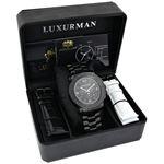 Mens Diamond Black Watch 0.25Ct Oversized Watch-4