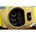 Ice Plus Mens Diamond Shock Style Watch Yellow Case Yellow Band 2