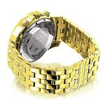 LUXURMAN Mens Diamond Watch Yellow Gold Tone 1Ct-2