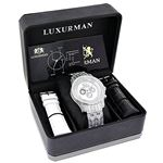 Luxurman Genuine Diamond Watch 1.25ct Wh 90453 4