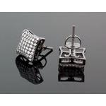 Sterling Silver Unisex Fashion Hand Set Stud Earrings ME0217e 2