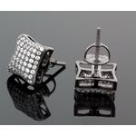 Sterling Silver Unisex Fashion Hand Set Stud Earrings ME0216e 2