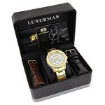 Luxurman Watches: Mens Liberty Genuine D 90673 4
