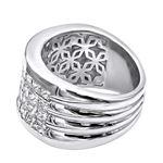 Platinum Ring Invisible Set Princess Cut Diamond-2