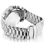 Oversized Iced Out Mens Diamond Watch 2Ctw Of Di-2