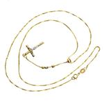 14K YELLOW Gold HOLLOW ROSARY Chain - 18 Inches Long 2.9MM Wide 2