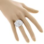 Sterling Silver Mens Diamond Ring 3Ctw (Sterling-4