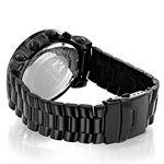 Mens Diamond Black Watch 0.25Ct Oversized Watch-2