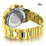 Matching His And Hers Watches: Yellow Gold Plate-2