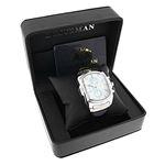 Large Watches: Luxurman Bullion Real Diamond Watch For Men 0.18ct Chronograph 4