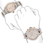 Matching His And Hers Watches: 18K White Rose Go-4