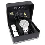 LUXURMAN MENS REAL DIAMOND WATCH 0.25CT 52 4