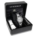 Luxurman Watches: Ladies Genuine Black D 90628 4