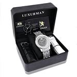 Iced Out Mens Diamond Watch By LUXURMAN 1Ct Blac-4