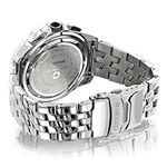 Centorum Mens Real Diamond Watch 0.55ct Midsize Chronograph White MOP Steel Band 2