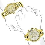 His And Hers Watches: Yellow Gold Plated Diamond-4