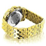 Luxurman Mens Diamond Watch 0.5ct Yellow Gold Plated in White Sparkling Stones. 2