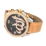 Jacob Co. 18K Rose Gold Leather Band 5Time Zone-2