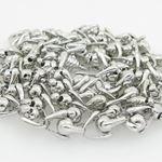 Mens .925 Italian sterling silver franco box ball wheat popcorn rope fancy chain 2