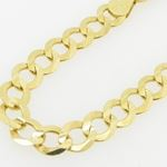 Mens 10k Yellow Gold figaro cuban mariner link bracelet AGMBRP27 8 inches long and 6mm wide 2