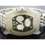 4.00Ct Diamond Black Face Stainless Steel Band W-4