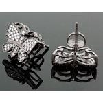 Sterling Silver Butterfly Fashion Hand Set Stud Earrings ME0210 2