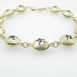 Ladies 10K Solid Yellow Gold evil eye star bracelet Length - 7 inches Width - 10mm 2