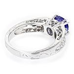 14K Natural Diamond Tanzanite Engagement Ring Fo-2