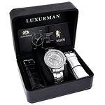Luxurman Liberty Mens Real Diamond Watch 90180 4