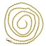 """14K SOLID Yellow Gold ROPE Chain Necklace 2.0MM Wide Sizes: 18"""""