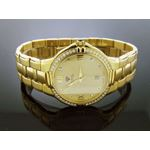 Mens Swiss 40Mm 1.00Ct 40 PCS Diamonds Watch Yel-4