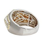 14K Gold Unique Mens Diamond Ring Wedding Band 1-2